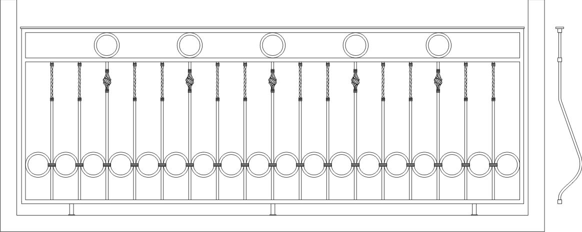 Ограждение балкона эскиз 6.
